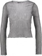 Topshop CHAINMAIL LETTUCE Maglietta a manica lunga silver
