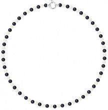 Pearls & Colors Collana di perle Donna argento 925_argento perla rotonda - AM17-COL-AG-R56-AML-WHBL