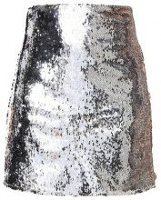 Dorothy Perkins Petite SEQUIN SKIRT Gonna a campana silver