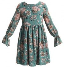 Glamorous Petite LONGSLEEVE DRESS WITH BELL SLEEVES Vestito estivo jade green floral
