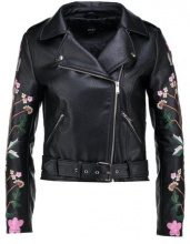 Only Petite ONLMALTES BIKER Giacca in similpelle black