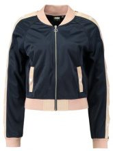 Urban Classics LADIES BUTTON UP TRACK JACKET Giubbotto Bomber navy/lightrose/white