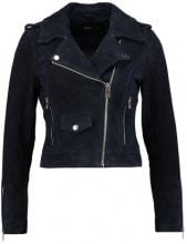 Only Petite ONLGRACE SUEDE BIKER Giacca di pelle blue nights