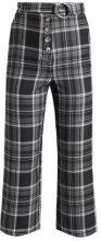 Topshop CHECK STITCH  Pantaloni grey