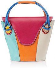 Chicca Borse 9144, Borsa a Mano Donna, Multicolore (Mix), 34x30x15 cm (W x H x L)