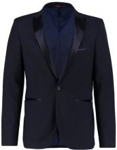 Burton Menswear London DOBBY Giacca elegante dark blue
