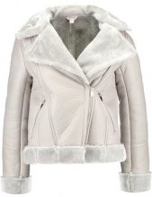 Miss Selfridge Petite SHEARLING  Giacca in similpelle grey