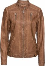Giacca in similpelle effetto lavato (Marrone) - John Baner JEANSWEAR