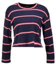 Topshop Petite STRIPE CREW Maglietta a manica lunga navy