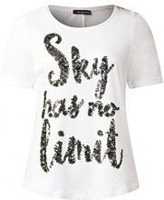 Street One 311641, T-Shirt Donna, Weiß (Off White 20108), 46
