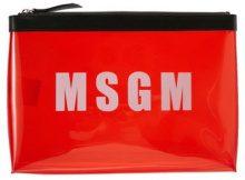 MSGM PVC CLUTCH Pochette red