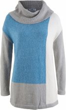 Pullover oversize a collo alto (Grigio) - bpc bonprix collection