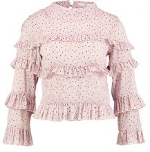 Missguided Petite HIGH NECK FRILL Camicetta dusky pink