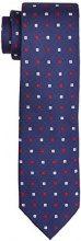 Tommy Hilfiger Tailored TIE 7 cm TTSDSN17306, Cravatta Uomo, Rosso (615), Taglia Unica