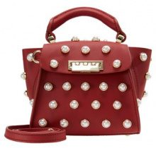 ZAC Zac Posen EARTHA MINI PEARL LADY Borsa a mano red