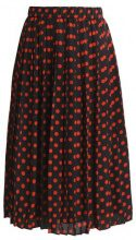 Warehouse SPOT PLEATED SKIRT Gonna a campana black/red