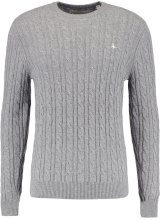 Jack Wills MARLOW CABLE CREW NECK Maglione grey marl