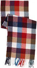 GANT Multicheck Lambswool Scarf, Sciarpa Uomo, Rosso (Bright Red), Taglia Unica