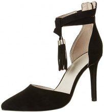 BiancoTassel Sandal Jfm17 - Scarpe con Tacco Donna , Nero (nero (nero)), 39