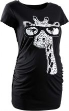 T-shirt pr?maman con giraffa (Nero) - bpc bonprix collection