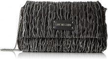 Love Moschino Borsa Fabric Grigio - Borse a tracolla Donna, Grau (Grey), 17x28x5 cm (B x H T)