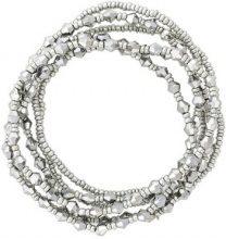 Set di 6 bracciali con pietre metallizzate