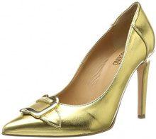 Love Moschino Scarpad.anne100 Laminato PU, Scarpe con Tacco Donna, Oro (Gold), 37 EU