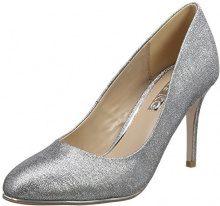 Miss KG Maglietta Cole Closed-Toe Tacchi, Argento (Silver (Pewter)), 37
