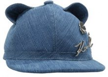 KARL LAGERFELD CAT EARS Cappellino denim