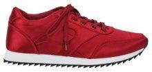 Sneakers di raso con suola a contrasto