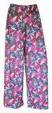 Pantaloni palazzo estivi da donna, a gamba larga, con stampa floreale, per taglie forti