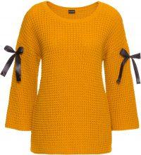 Pullover con nastri (Giallo) - BODYFLIRT