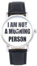 Orologio con cinturino in pelle I'm not a morning person