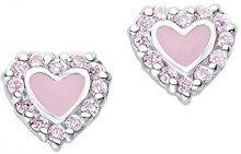 Prinzessin Lillifee ragazze orecchini argento 925rodiato con cuore per bambini rosa