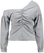 Topshop OFF SHOULDER TAILORED  Camicetta grey