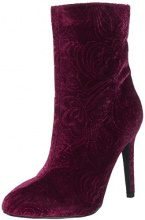 BiancoSamt Stiletto Bootie - Stivaletti Donna , rosso (Rot (Winered)), 41