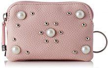 Lollipops Beads Double Zip Purse - Borse a spalla Donna, Rosa (Pink), 4x8x12 cm (W x H L)