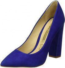 Buffalo London ZS 5057-15 Nobuck, Scarpe con Tacco Donna, Blu (Azul 61), 38 EU