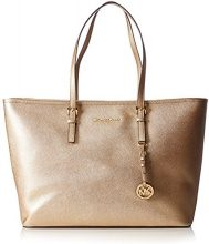Michael Kors Jet Set Travel Medium Top Zip tote - Borse Donna, Gold (Pale Gold), 15x29x38 cm (B x H T)