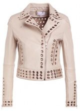 Patrizia Pepe GIACCA JACKET Giacca di pelle simply beige