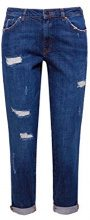 edc by ESPRIT 127cc1b048, Jeans Boyfriend Donna, Blu (Blue Dark Wash 901), W29/L32