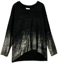 Pullover a maglia con decorazione metallizzata