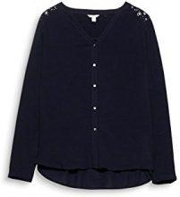 ESPRIT 117ee1f007, Camicia Donna, Nero (Black 001), 40 (Taglia Produttore: 34)
