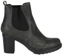 Chelsea boots di similpelle con tacco