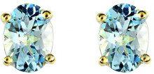 Ivy Gems - Orecchino in oro giallo con topazio, blu