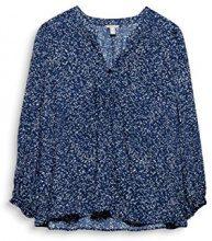 ESPRIT 117ee1f001, Camicia Donna, Multicolore (Navy 400), 46 (Taglia Produttore: 40)