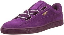 Puma Suede Heart Satin II, Scarpe da Ginnastica Basse Donna, Viola (Dark Purple-Dark Purple), 42.5 EU