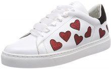 Steffen Schraut 37 Love Street, Sneaker Donna, Weiß (White/Red), 40 EU