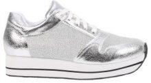 Sneakers con plateau metallizzate