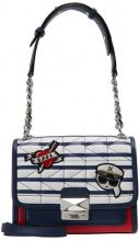 KARL LAGERFELD CAPTAIN MINI HANDBAG Borsa a tracolla white